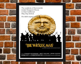 Framed The Wicker Man Cult Horror Movie Film Poster A3 Size Mounted In Black Or White Frame