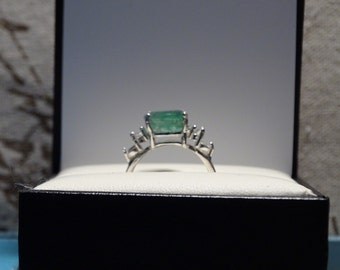 3.58 ct emerald ring size 7