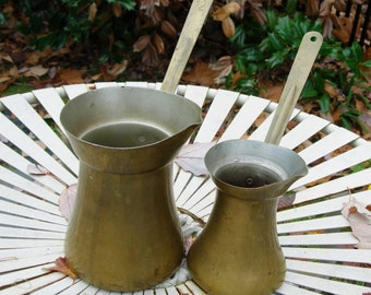 Pitchers Brass-Plated Long-Handled Vintage 12oz and 32oz