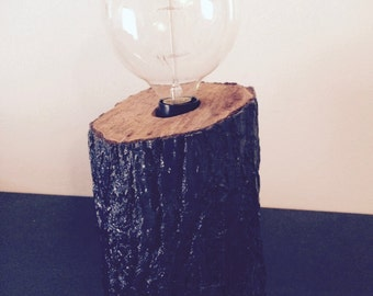 tree trunk lamp