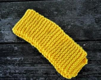 Goldenrod Hand Knitted Scarf, Christmas Gift, Stocking Stuffer