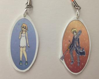 Kingdom Hearts Phone Charms/Keychains - Namine and Roxas