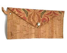 Cork wallet, Cork women's wallet, cork purse, cork pouch, vegan purse, vegan pouch, Feminine pouch, Feminine purse, Portuguese cork, cork
