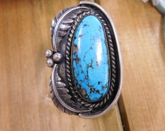 Vintage Large Blue Turquoise Ring size 7.5