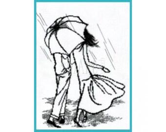 Cross Stitch Kit Walk under the rain