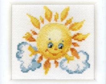 Cross Stitch Kit Sun