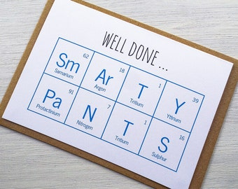 Well Done, Smarty Pants Card