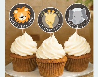 Noah's Ark Baby Shower, Cupcake Toppers