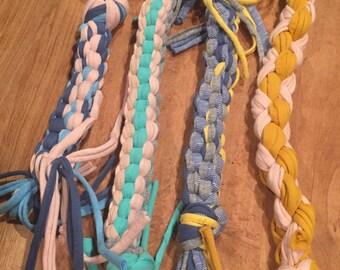Dog toy, handmade, rope, braided, t shirt yarn, pet, fur baby,