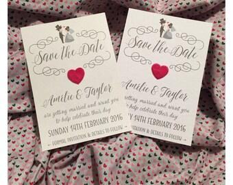 Save the Date Wedding Invitation x6
