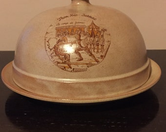 Vintage French Cheese Plate & Cover