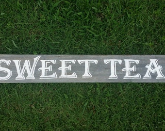 Sweet Tea Sign, Rustic Wood Sign, Wood Wall Art, Rustic Wall Art, Wood Decor, Hand Painted Sign, Distressed Sign, Kitchen Wall Decor