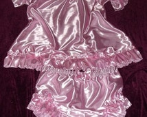 SALE Adult Baby Sissy Crossdresser Dress Panties Set