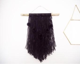 Weaving XX BLACK pom poms