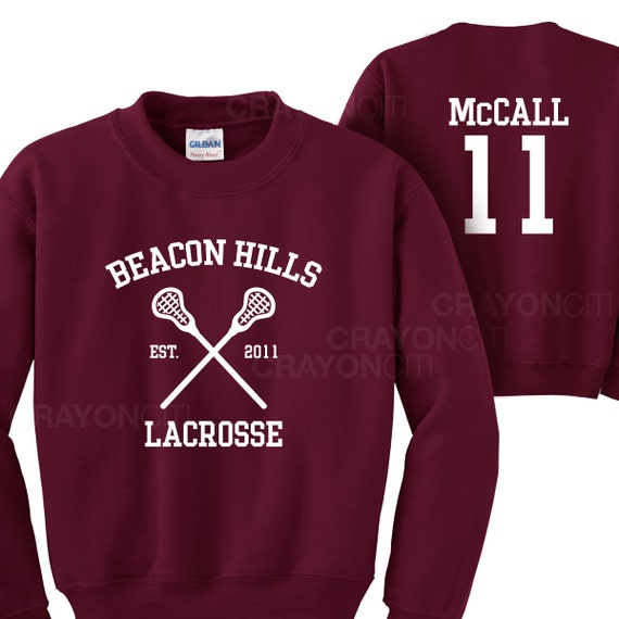 teen wolf beacon hills lacrosse mccall 11 sweatshirt by. Black Bedroom Furniture Sets. Home Design Ideas