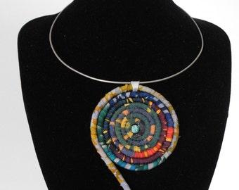 silk wrapped pendant