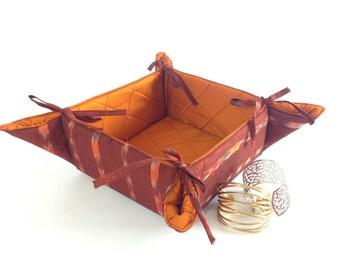 Mothers Day Gift, Mom Gift Under 20, Folding Storage Basket, Diaper Storage, Boho Basket, Bookshelf Storage, Fabric Basket, Storage Bin