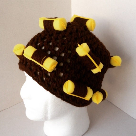 Items similar to Mrs Browns Boys Hat /crochet wig with rollers in. Mrs ...
