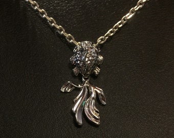 Silver goldfish necklace