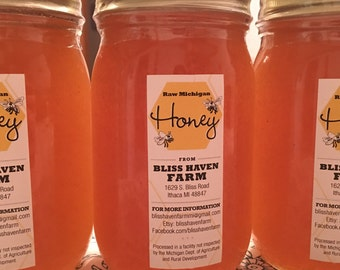 Raw Michigan Honey 1 Pint - 1.25 pounds