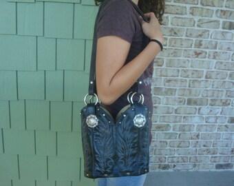 Boot purse, western purse, cowboy boot purse, cowgirl purse, leather purse, leather bag,