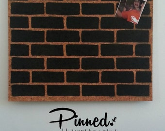 Brick design pinboard, hand painted cork board, memo board, bulletin board