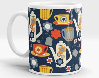 Tea Love mug - Retro - 60s - Tea - Coffee