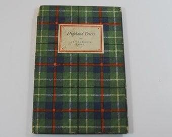 Vintage King Penguin Book of Highland Dress, 1st Edition Penguin Book 1948, Scottish Dress Book, Vintage Illustration Book,