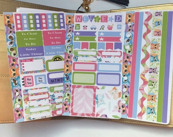 AJ6D338, Owls & Feather's Personal Kit, Planner Stickers.