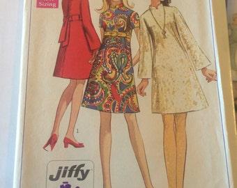 Vintage simplicity pattern 7897, Nehru collar dress