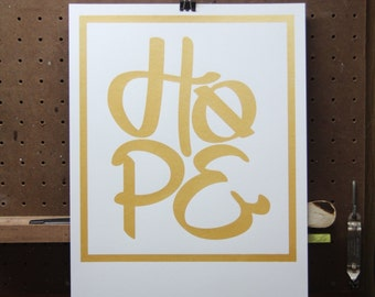 HOPE 11x14 Screen Printed Poster