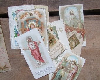 Small Prayer Card Vintage Religious Card ONE Picked At Random