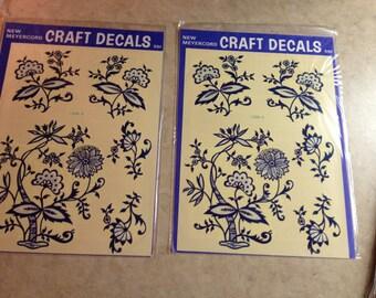 Vintage Meyercord craft decal unopened 1970s package