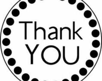 Thank You Sticker Labels Set of 50