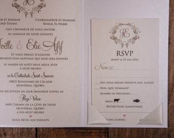Blush And Gold Invitations, Blush And Gold Vintage Invitations, Blush And Gold Rustic Invitations, Blush And Gold Wedding Invitations