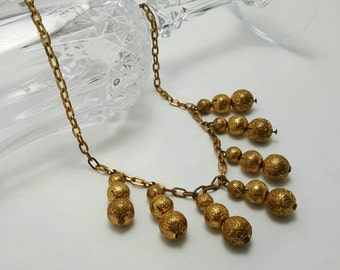 Brass Dangle Necklace