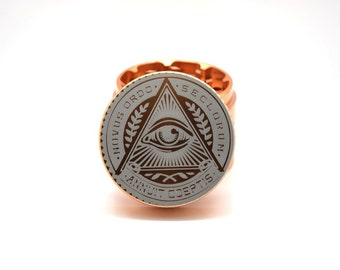 All Seeing Eye Mason Illuminati Herb Weed Grinder Aluminum Custom Laser Engraved