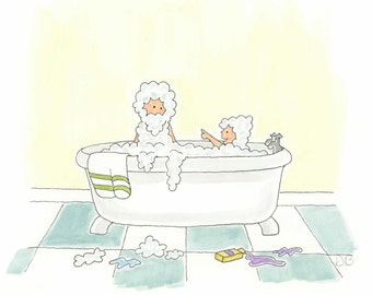 Bathtime Bubbles Greetings Card