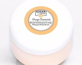 Orange Creamsicle Body Butter, Shea Butter/Whipped/Moisturizer/Hand cream/Dry skin/Beeswax/Coconut oil/Vitamin E/Gift idea/