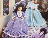 Dolly Doorstops, Annie's Attic Doll Clothes Home Decor Crochet Pattern Booklet 87H77 - Makes Great Pajama Bags or Hide Treasures In