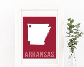 Arkansas Home Print – Custom Arkansas Print, Arkansas Wall Art