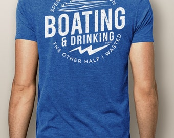 Men's Boating T-Shirt- NautiGuy Boating & Drinking-Nautical Tshirts-Men's Boating-Men's Drinking-NautiGuy Shirts-Money Wasted-The Water Soul