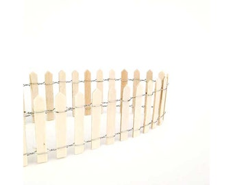 Miniature fairy garden fence, picket fencing, natural fencing, miniature garden, miniature landscape, wood fence,  pixies, fairies
