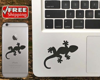 Gecko Decal, Gecko iPhone Sticker, Gecko Macbook Decal, Gecko Sticker - FREE Shipping in USA - Choose Color Of Decal