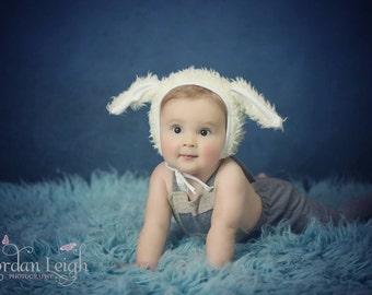 Newborn Lamb Bonnet.