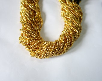 5 Strands of Pyrite Gold Coated Faceted Rondelle Beads, Gold Pyrite Faceted Rondelle beads, Pyrite Rondelle Beads