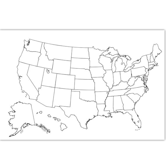 Coloring Map USA Coloring Page USA Outline Plain No - Plain usa map