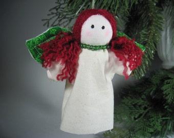 Irish Handmade Angel Ornament Red Head