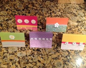 5 Handmade greeting cards - Blank inside