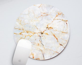 Mouse Pad Marble Mousemat Marble Golden White Mouse Mat Rectangular Mouse Mat Round Office Decor Office Desk Laptop Accessories Pads PP5006